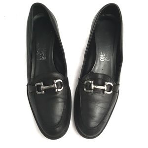 Ferragamo Black Loafers